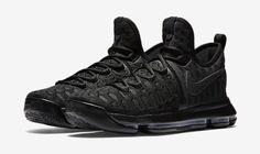 Nike Zoom KD 9 Mens Basketball Shoes 12 Triple Black Anthracite 843392 001 #Nike #BasketballShoes