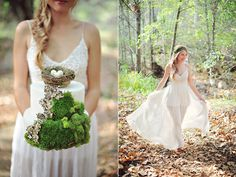 bohemian weddings - photo by ArinaB Photography http://ruffledblog.com/greenery-filled-wedding-ideas