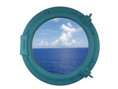 Light Blue Decorative Ship Porthole Window 20""