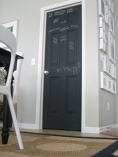 I love this pantry. I have painted my door with chalkboard paint and it is a big hit. Now to work on the inside!!