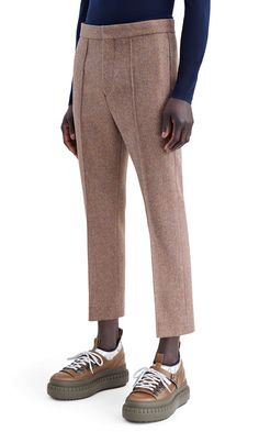 Rene dropped crotch, cropped leg trouser in Shetland wool melange #AcneStudios #FW15 #menswear