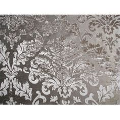 Grey Damask  Burnout Velvet on Fancy Fabric by FabricMart on Etsy, $10.90
