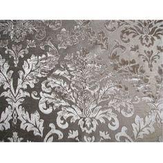 Grey Damask  Burnout Velvet on Fancy Fabric by FabricMart on Etsy, $10.90
