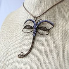 Make yourself a dragonfly pendant that is not just beautiful but also symbolic of many things