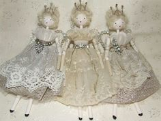 Shabby chic fairy doll by Clare Rowles