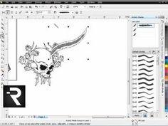 How to Use CorelDRAW Pt. 1 - Secrets of CorelDRAW Brush Designs - YouTube