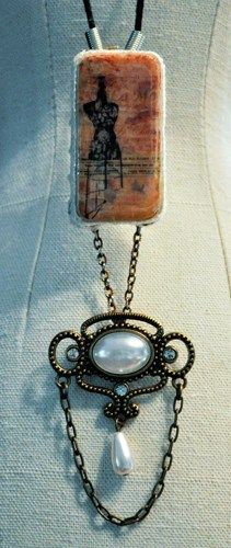 Altered Domino Necklace - Couture | sparemarbles - Jewelry on ArtFire