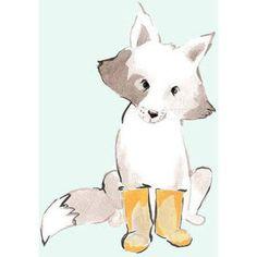 Oopsy Daisy - Max In Yellow Booties Canvas Wall Art 10x14, Anna Burnett