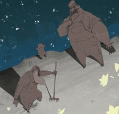 Concept Arts de La Luna, por Dice Tsutsumi | THECAB - The Concept Art Blog