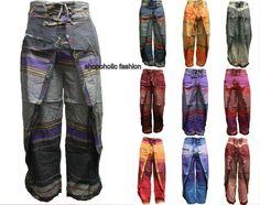 Wrap Round Hippie Colorful Eye Catching Festival Bohemian Cotton Trousers/Pants
