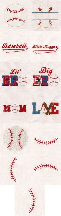 Spring Baseball Fun Embroidery Machine Design Details