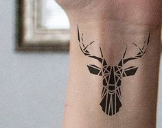 Stag tattoos are inked by both men and women and become more and more popular. In this post, I will show you the collection of small stag tattoo Ideas I came across. Tattoos Masculinas, Head Tattoos, Mini Tattoos, Trendy Tattoos, Body Art Tattoos, Small Tattoos, Sleeve Tattoos, Tattoos For Guys, Tattoo Girls
