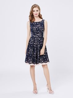 Lucia Dress | Navy | Lace Dresses