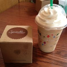 Nothing better than a Starbucks and a sprinkles cupcake in calventch.