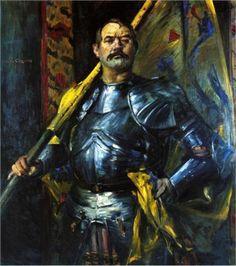Lovis Corinth. Autoportrait en porte-drapeau 1911. Huile sur toile 146 x 130 cm