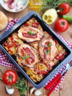 Croatian Recipes, Hungarian Recipes, Hungarian Food, Meat Recipes, Chicken Recipes, Cooking Recipes, Food 52, Diy Food, Pork Dishes