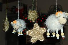 Crochet Fluffy Sheep Crochet Stars Crochet Golden by MKrisArt