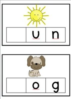 Featuring 34 different CVC words and pictures each with 3 various designs. To be used with whiteboard markers or magnetic letters.  1. No sounds recorded - students record all 3 sounds 2. No middle sound recorded - students record middle sound 3. No initial letter/sound recorded - students record initial letter/sound