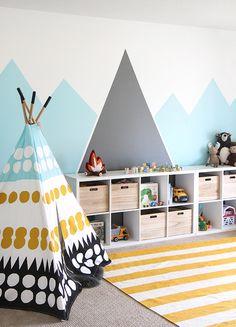 » I SPY DIY DESIGN | Kid's Colorful Camp Playroom