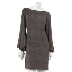 { Love the sleeves! By the way, to anyone who watches Leverage, I think this looks like something Sophie would wear! }  Jessica Howard Mixed-Media Sheath Dress @ Kohls.com