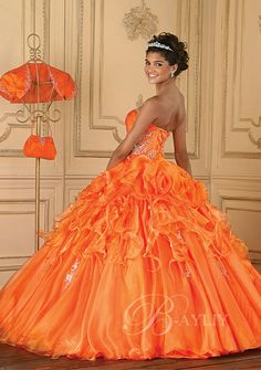 Eye popping orange with matching caplet and purse Modest Homecoming Dresses, Orange Prom Dresses, Orange Dress, Prom Dreses, Quince Dresses, Orange Wedding Themes, Orange Weddings, Orange Mode, Non White Wedding Dresses