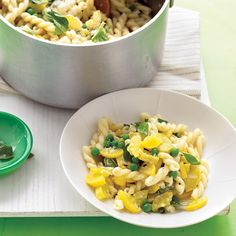 Chill out tonight by using just one burner for dinner. Parmesan and butter (plus a bit of pasta water and lemon juice) make an instant delicately creamy sauce that flatters veggies in this carefree supper.