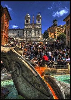 Spanish Steps in Rome, Italy, via Flickr.