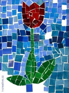 Obrazek Easy Crafts, Crafts For Kids, Arts And Crafts, Fabric Crafts, Paper Crafts, Spring Art Projects, Mosaic Artwork, Stained Glass Patterns, Art Lesson Plans