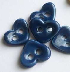 How Blue is Your Heart by buttonalia on Etsy, $10.00