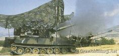 Hellenic Army M109A1 unit fire.