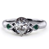 Diamond and Emerald Claddagh