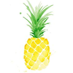 Pina Pineapple Watercolor Print $40 for 11x14, $30 for 8x10. Waiting on Martha.