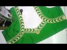 Easy Blouse Cutting and Stitching in Telugu Salwar Neck Designs, Saree Blouse Neck Designs, Fancy Blouse Designs, Dress Neck Designs, Choli Designs, Blouse Patterns, Sleeve Designs, Aya Couture, Stylish Blouse Design
