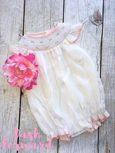 Baby Pink Floral Smock Bubble by DashForward on Etsy