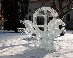 St. Paul Winter Carnival Ice Sculptures 2009 by Lois Images, via Flickr