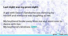 Random acts of kindness - Last night was my prom night. Sweet Stories, Cute Stories, Beautiful Stories, Love Gives Me Hope, I Hope, Make Me Happy, Make Me Smile, Touching Stories, Just Amazing