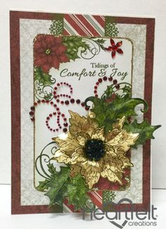 Heartfelt Creations | Gold Poinsettia Joy