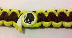 Washington Redskins Logo Paracord Bracelet by PhaedrusParacord $10.00