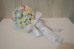 Buque de broches e marshmallow para daminha By KaLoMa