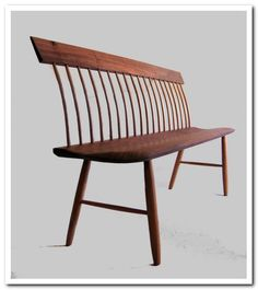 shaker bench Shaker Furniture, Bench Furniture, Furniture Design, Spray Paint Chairs, Painted Chairs, Windsor Bench, Windsor Chairs, Dining Table With Bench, Kitchen Tables