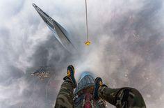 Vitaliy Raskalov et Vadim Makhorov n'ont pas résisté à l'attrait de la tour de Shanghai.