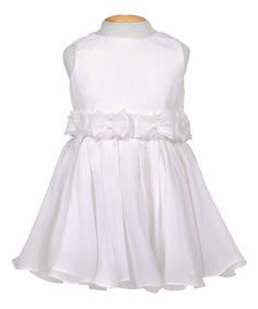 Ivory Bow Dress - Infant by Growing Up #zulily #zulilyfinds
