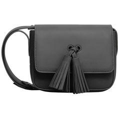 MANGO Tassel Cross-Body Bag (£32) ❤ liked on Polyvore featuring bags, handbags, shoulder bags, long cross body purses, fringe handbags, fringe crossbody purse, metallic handbags and fringe crossbody