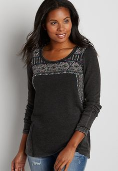 pullover sweatshirt with embroidery | maurices