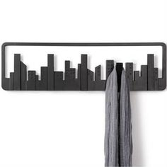A modern take on the classic coat rack, the Umbra Skyline Wall Mounted Multi Hook is the perfect masculine coat rack for your home. Coat Hanger, Wall Hanger, Wall Hooks, Coat Racks, Dot And Bo, Your Space, Home Accessories, Sweet Home, Wall Decor