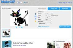 MakeGIF, herramienta web gratuita para crear gifs animados y compartirlos en la red Up Animation, Home Signs, Apps, Pictures, Social Networks, Create, Hilarious, Tutorials, Photo Illustration