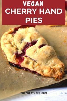A fresh homemade cherry pie is such a treat! These rustic hand pies are easy to make and so delicious and buttery. #pie #cherry #vegan #dessert #recipes