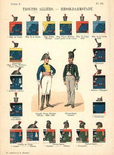 Великое герцогство Гессен. Союзные войска. Uniformes de I'Armee Francaise 1690-1894 Lienhart & Humbert