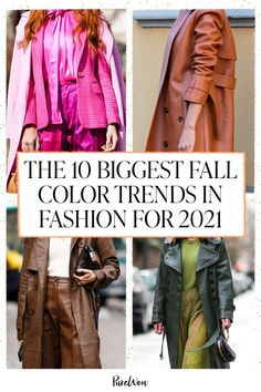 According to the experts at the Pantone Color Institute, the most popular colors for clothing and accessories this fall are bright, bold and extra playful. Here's how to wear all ten shades. #fall #color #trends Pumpkin Picking, Grey Maxi, Popular Colors, Pumpkin Spice Latte, Pantone Color, Shades Of Grey, Get The Look, Color Trends, Fall Outfits