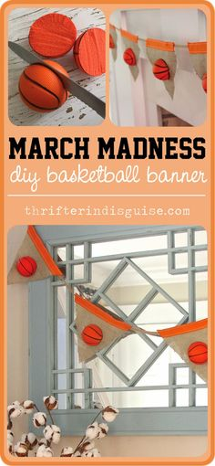 Get ready for March Madness with this simple and fun banner project. Perfect for basketball-themed parties, too!